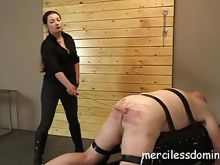 Caned For His Crimes - Merciless British Goddess Sophia