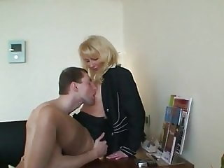 Mature Teacher Seduces and Fucks Her New Lucky Student