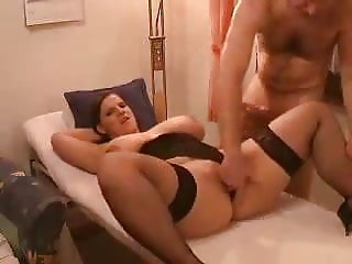Busty German Tommelbommel In Pussy And Ass