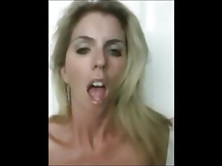 Blonde Bitch Striptease Masturbation Selfie