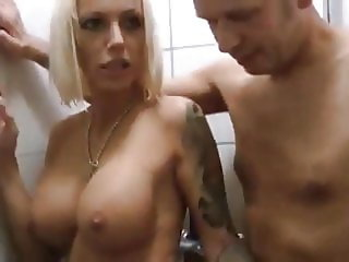 Horny Busty Wife Loves Taking Shower with her Neighbor