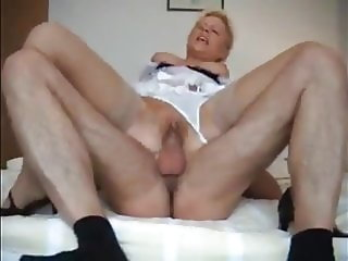Shameless Busty Wife Having Fun with Boss on Business Trip