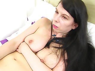 Real mother with amazing tits and wet pussy