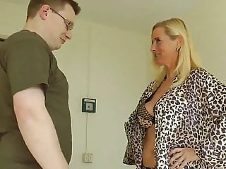 Fat Nerd in Glasses with Small Cock Takes Advantage of MILF