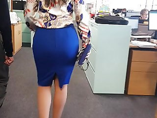 Tight Skirt - Office Ass