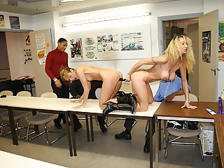 2 hot secretaries share dildo and bbc in office
