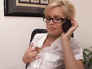 Hot Blonde Office