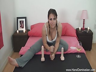 She is really hard on this cock