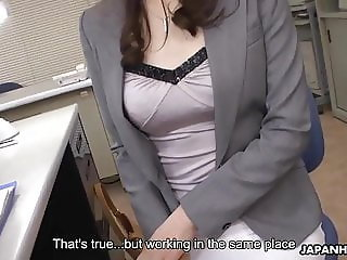 Japanese office lady, Noeru Mitsushima got cum in mouth, unc