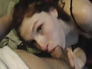 Ex wife Sucking on her long nipples and gagging a little