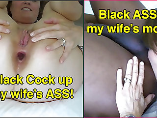 Black Cock up my wife's ass - Black ass in my wife's mouth
