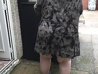 My bbw wife upskirt
