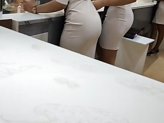 Best asses white dress sexy legs hot booty