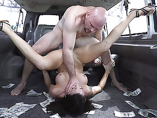 Beautiful Out of Town Girl Audrey Miles Rammed in a Van