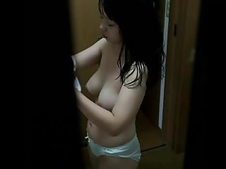 Beauty Asian After Girl Shower - Hidden Cam Clip