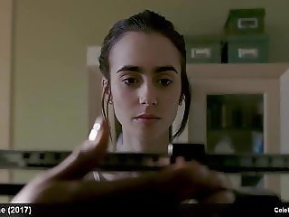 Lily Collins Exposing Her Skinny Body In Movie