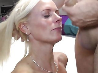 amazing mature wife with big boobs likes young neighbor guy