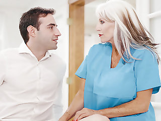 65yo Psychiotherapist Works On A Young Guy
