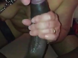 SUB FRENCH WIFE LEASHED SUCKS BBC WITH A STRAPON IN THE ASS