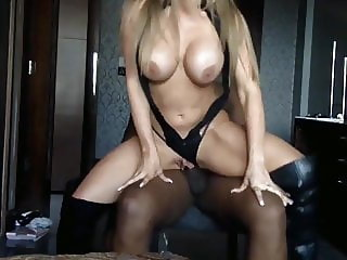 naughty blonde loves bbc on vacation in hotel room