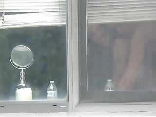 neighbor window voyeur fucking part 2