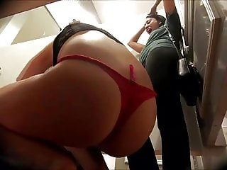 Cutie Blonde and Red Panties - Dressing Room Spy Cam