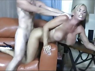 Sexy Busty Mom Having Orgasm with Her Young Stepson