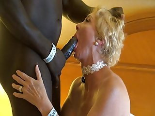 Blonde Gilf and  Black Strong Man.