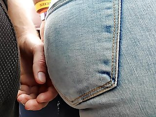 I touched juicy ass girls in tight jeans