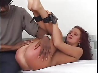 Sexy brunette spanked