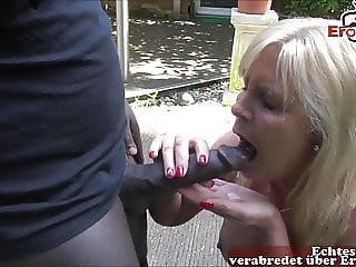 german Mature Neighbor mom seduced bbc neighbor for blowjob