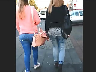 These two girls really like to be fucked by a big cocked man