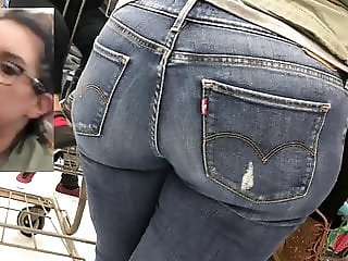 Young Latina Milf In Jeans Shows Ass