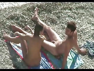 Nude Couple Sex On Beach by TROC
