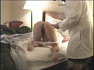 Doctor makes Housecall - Takes her rectal temperature