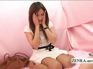 Strange Japan CFNM instructional lesson with handjob