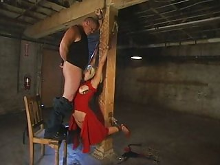 blonde in rough bondage
