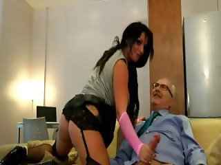 Older british guy fucks slut in stockings and suspenders