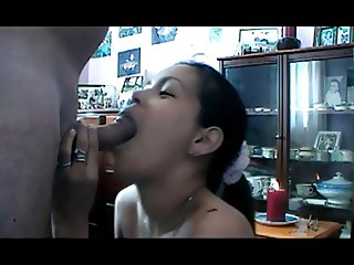 Tried to swallow and gagged
