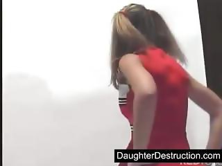 Cute daughter fucked by dirty man