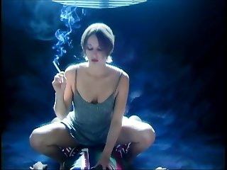 Smoking Fetish - Riding a cock smoking