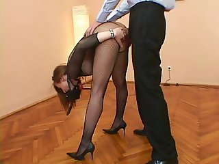Her tight ass getting cock stuffed