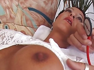Susana De Garcia is thoroughly examined by a doctor    CSp