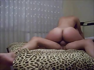 Old guy fucks booty young milf on real homemade