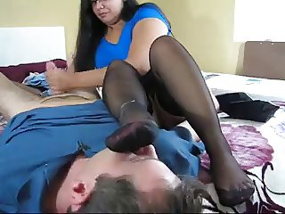 Foot Smell with Handjob