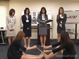 Two japanesese strip in groupsex