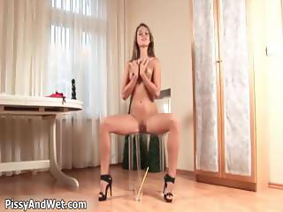 Crazy horny babe Daphne pissing in the part3