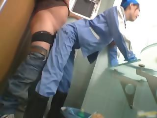 Asian maintenance girl goes in wrong part6