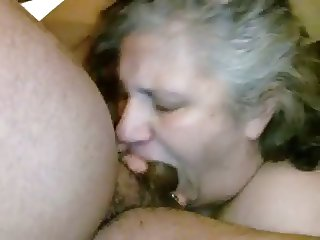 Married Mature Neighbor Gags on My BBC - Homemade Amateur