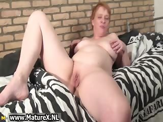 Old horny housewife puts huge vibrator part5